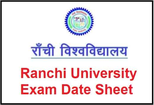 Ranchi University Exam Date Sheet