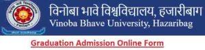 Vinoba Bhave University UG Admission Online Form