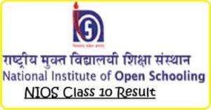 NIOS Class 10 Result