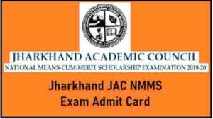 Jharkhand JAC NMMS Exam Admit Card