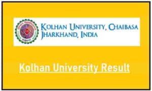 Kolhan University Result