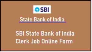SBI State Bank of India Clerk Job Online Form