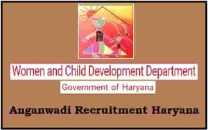 Anganwadi Recruitment Haryana
