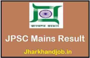 JPSC Mains Result
