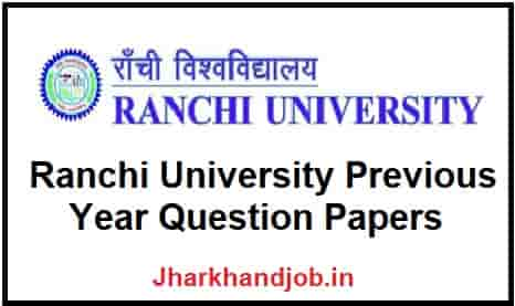 Ranchi University Previous Year Question Papers