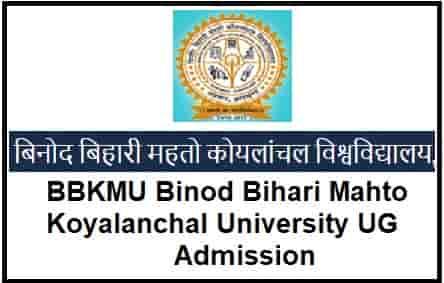 BBKMU Binod Bihari Mahto Koyalanchal University UG Admission