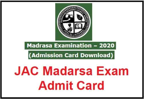 JAC Madarsa Exam Admit Card