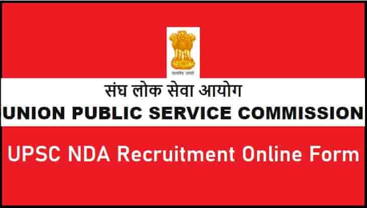 UPSC NDA Recruitment Online Form